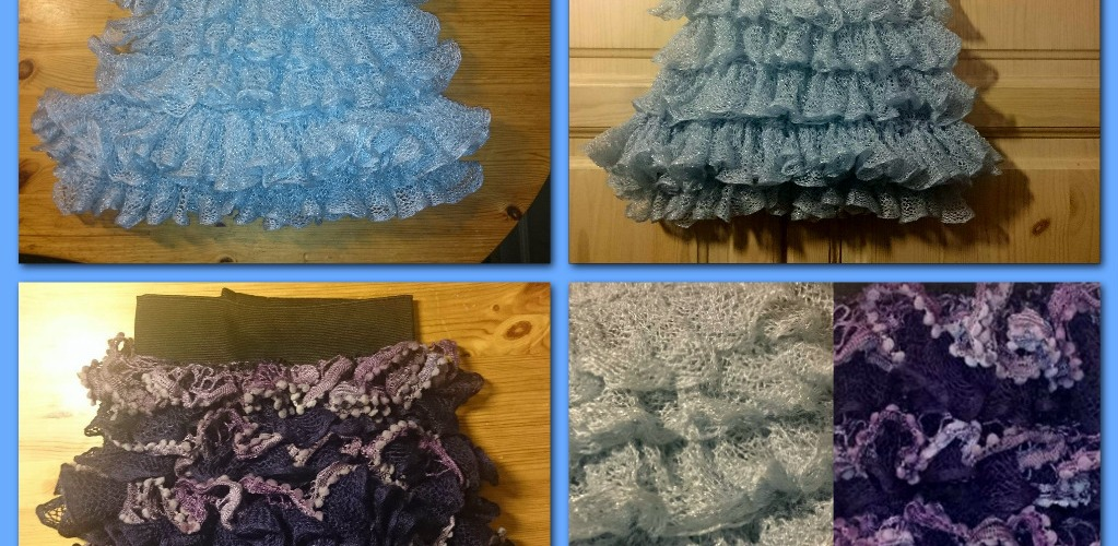 Crocheted Layered Skirts Using Rufflesashay Yarn Helinas