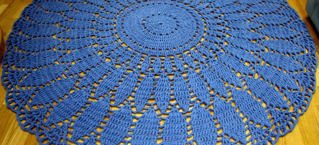 Huge crocheted rug! Part 2: The pattern – the first 16 rounds ...